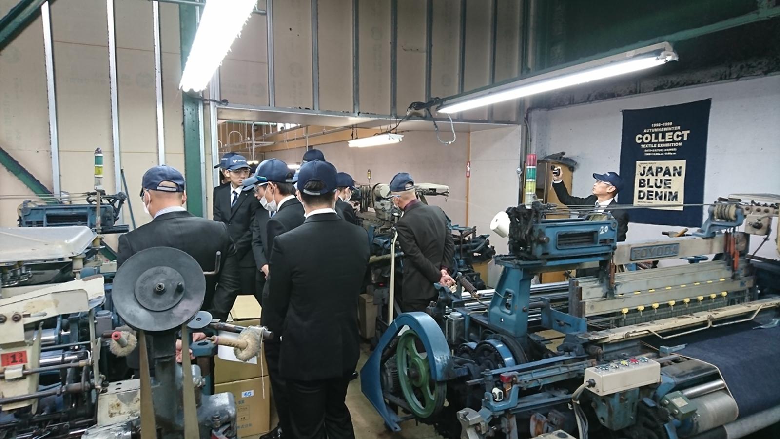 豊田自動織機様の工場見学を受けました。