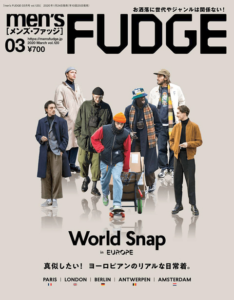 SETTO・TWM「men's FUDGE 3月号」掲載