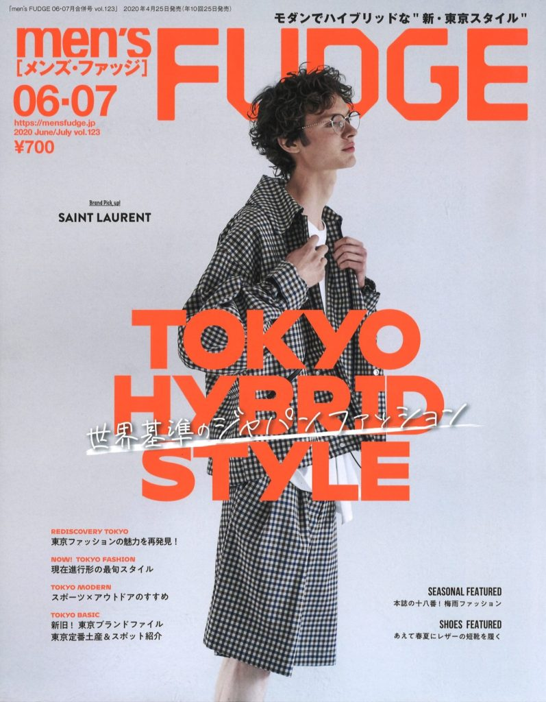 TWM「men's FUDGE 6-7月号」掲載
