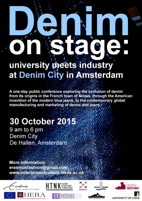 【release】10/30(金)オランダ・アムステルダム市で開催される「Denim on stage」で弊社代表 眞鍋寿男が講演致します。